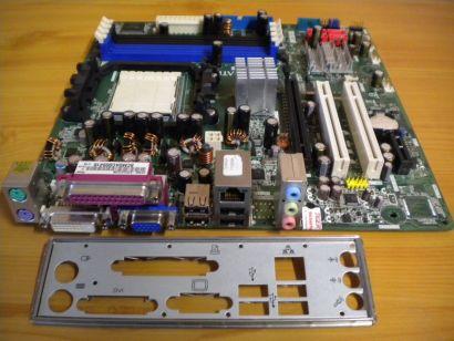 Pegatron AP480-S Rev 1.03 Mainboard + Blende Sockel AM2 AM2+ DVI SATA LAN* m656