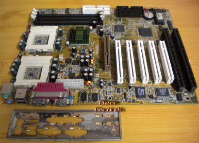 Abit BP6 V1.0 Dual Sockel PGA 370 Mainboard +Blende 2x ISA IDE-RAID AGP PCI*m657