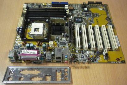 Asus P4S533-X Rev1.01 Mainboard +Blende Sockel 478 LAN Audio SDRAM oder DDR* m58