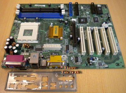 ASRock K7VT2 Rev2.01 Mainboard +Blende Sockel A 462 FSB266 LAN SDRAM DDR Aud*m62