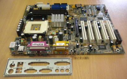 DFI WB72-SC rev. A1 Mainboard Motherboard mit Blende * Sockel 423 * m66