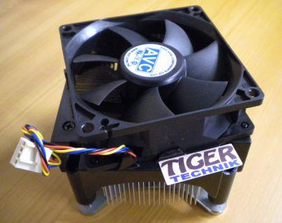 AVC HP 480502 002 Sockel 775 80mm Prozessorkühler CPU Kühler und Backplate* ck05