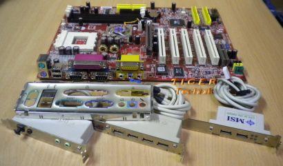 MSI KT3 Ultra MS-6380E Ver: 1.0 mit viel Zubehör Sockel 462 IDE-RAID uvm. * m75