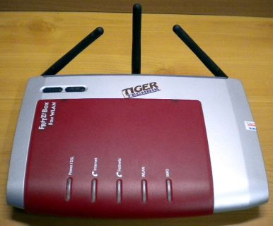 Fritz!Box Fon WLAN 7270 Router Rot ADSL ADSL2+ 4-ports VOIP ISDN USB* nw468