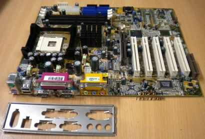 DFI NB72-SC rev. A00 Mainboard Motherboard mit Blende * Sockel 478 * m81
