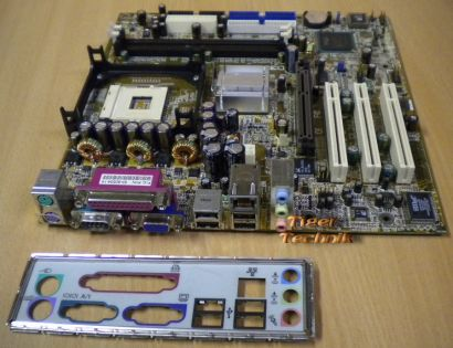 FIC VG31 FSB533 DDR266 AGP4X Grafik Sound LAN OnBoard Mainboard + Blende* m83
