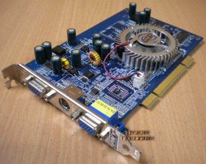 PNY GeForce FX5500 Grafikkarte PCI 128MB DDR Dual VGA TV-Out g71