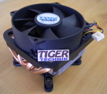 AVC Intel Sockel 775 92mm 4-pin CPU Lüfter B6404DC Alu + Kupferboden-Rohre* ck26