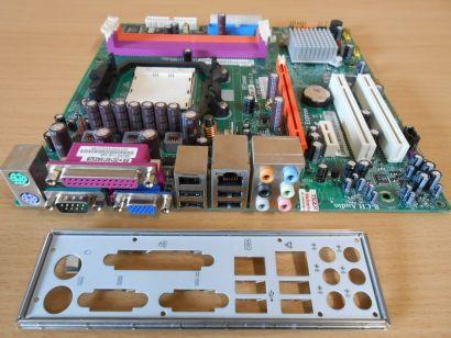 ECS MCP61SM-AM Rev1.0 Mainboard +Blende Sockel AM2 PCIe VGA LAN Audio SATA* m706