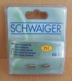 2x Schwaiger FLA 352 Endwiderstand für Antennendosen 75 Ohm* so529