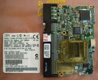 IBM DJNA-351520 E182115 PN IDE 15.2GB PCB Controller Elektronik Platine* fe139