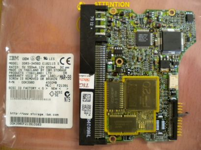 IBM DDRS-34560 E182115 S SCSI 4560MB PCB Controller Elektronik Platine* fe147