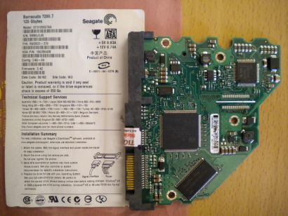 Seagate Barracuda ST3120827AS SATA 120GB PCB Controller Elektronik Platine*fe172