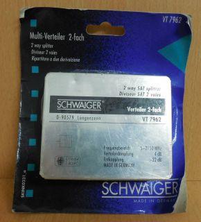 Schwaiger VT 7962 SAT Multi Verteiler 2-fach Splitter für 2 Stammleitungen*so566