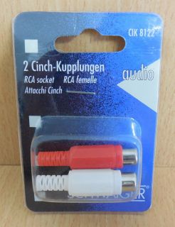 Schwaiger CIK8122 2x Cinch-Kupplungen 2 Stück Cinch Kupplung Selbstmontage*so573