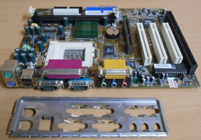 Chaintech 6AIA2 -C100N Mainboard +Blende PGA 370 VIA Pro ISA AGP Audio* m726