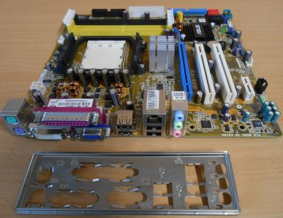 ASUS M2A-VM Rev 1.01G Mainboard +Blende Sockel AM2+ VGA DVI GLAN Audio PCIe*m729
