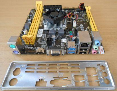 Biostar A68N-5200 Ver6.2 Mainboard +Blende AMD A6-5200 Quad Core CPU USB3.0*m739