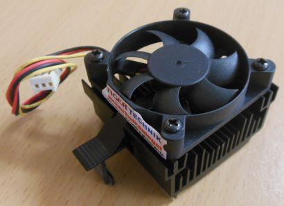 Sockel AMD A 462 Intel 370 50mm 3-pol Prozessorkühler CPU Lüfter* ck289