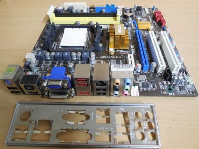 Asus M4A78-EM Rev1.03G Mainboard +Blende AMD Sockel AM3 AM2+ DDR2 VGA HDMI* m758