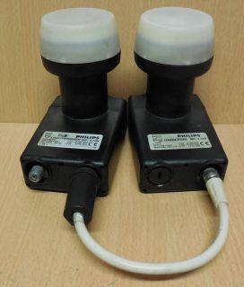 Philips SX819 Universal LNB + SX820LT B Looptrough 0.7dB DiseqC 2.0* so736