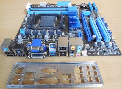 Asus M5A78L-M USB3 Rev1.00 Mainboard +Blende Sockel AM3 AM3+ PCIe DDR3* m796
