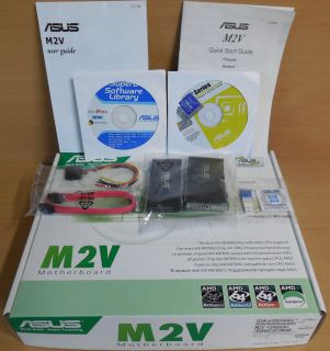 Asus M2V Rev 1.01G Mainboard NEU OVP Sockel AM2 VIA PCIe DDR2 Audio GbLAN* m820