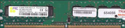 Aeneon AET660UD00-25D PC2-6400 512MB DDR2 800MHz Arbeitsspeicher RAM* r418