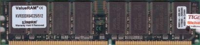 Kingston KVR333X64C25 512 PC-2700 512MB DDR1 333MHz 9905144-003 B01 RAM* r459