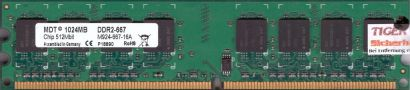 MDT M924-667-16A PC2-5300 1GB DDR2 667MHz Arbeitsspeicher RAM* r546