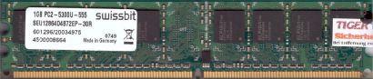 Swissbit SEU12864D4B72EP-30R PC2-5300 1GB DDR2 667MHz Arbeitsspeicher RAM* r548