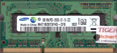 Samsung M471B2873FHS-CF8 PC3-8500 1GB DDR3 1066MHz SODIMM Arbeitsspeicher* lr08