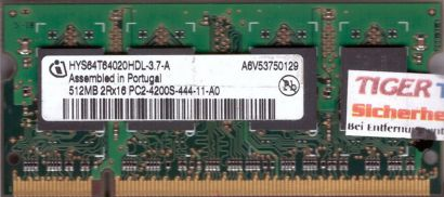 Infineon HYS64T64020HDL-3.7-A PC2-4200 512MB DDR2 533MHz SODIMM RAM* lr20