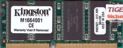 Kingston M1664001 PC66 128MB SDRAM 66MHz SODIMM 9902027-012 A00* lr69