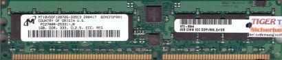 Micron MT18VDDF12872G-335C3 PC-2700R 1GB DDR1 333MHz Server ECC Reg RAM* r593