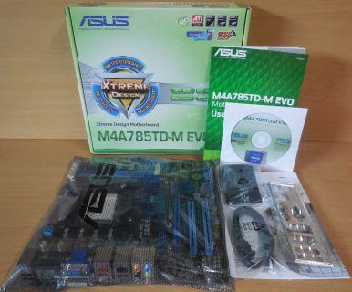 Asus M4A785TD-M EVO Rev1.02G Mainboard NEU OVP Sockel AM3 PCIe DDR3 HDMI* m857