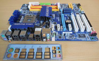 Gigabyte GA-EP45-UD3R Rev1.0 Mainboard +Blende So775 P45 FSB1600 DDR2 PCIe*m858