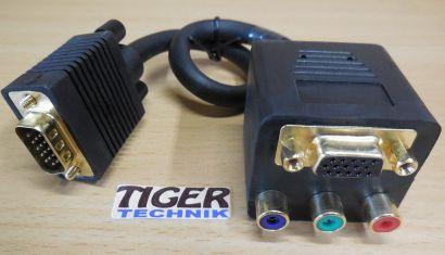 InLine 17316 VGA Adapter Kabel VGA Stecker auf 1x VGA Buchse + RGB Buchse* pz719