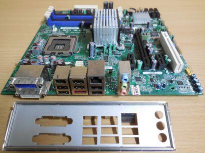 Intel DQ45CB Rev E30148 207 Mainboard +Blende Sockel 775 DDR2 VGA DVI PCIe* m893