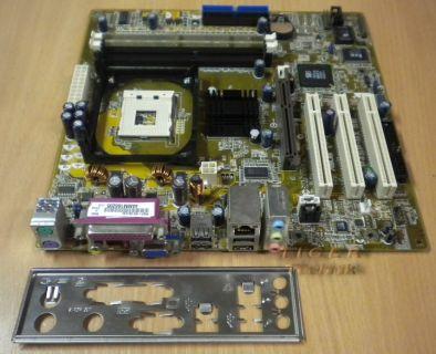Asus P4SP-MX Rev. 1.00 Mainboard Sockel 478 AGP PCI LAN VGA + Blende* m266