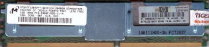 Micron MT9HTF12872FY-667E1E4 FB DIMM 1GB PC2-5300F 667MHz HP 461652 061 RAM*r06