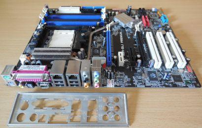 Asus A8N-SLI Premium Rev1.02 Mainboard +Blende Sockel 939 nForce4 SLI SATA* m916