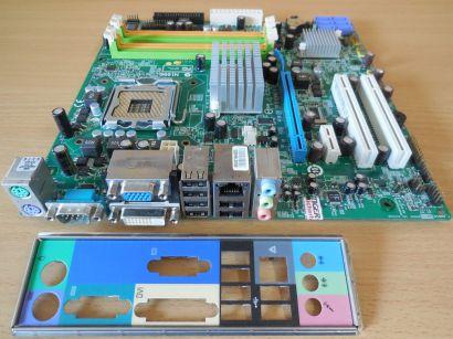 Acer MG43M Ver1.0 Mainboard +Blende MSI MS-7607 Extensa E470 Veriton M480* m922