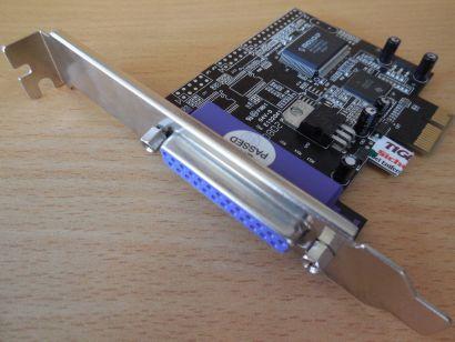 PI49835-9X2A Moschp Chipset MCS9835CV 1x LPT Parallel PCI Express Karte* sk50