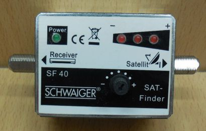 Schwaiger SF 40 SAT Finder 3+1 LED F-Buchse F-Buchse SAT-Finder* so861