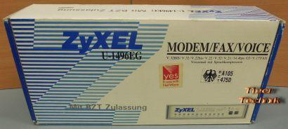 Zyxel U-1496EG Analog Modem Retro G3 Fax Voice 16800 bps V 21 23 22 32 OVP*nw539