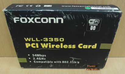 Foxconn WLL-3350 802.11 b g 54Mbps Wireless PCI Adapter Karte OVP* wk12