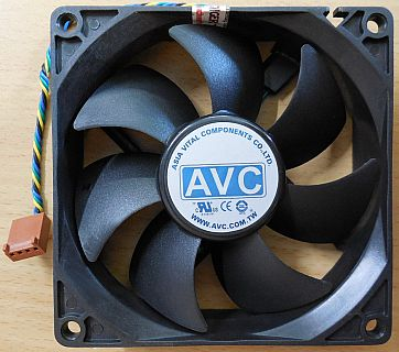 AVC DS09225R12HP024 PC Computer Gehäuse Lüfter 4-pol 92mm Hydrauliklager* GL120