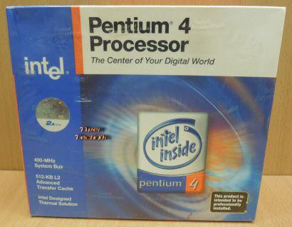 CPU Prozessor Intel Pentium 4 SL68R 2Ghz 400MHz FSB 512K Sockel 478 NEU OVP*c596