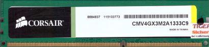 Corsair 4GB Kit 2x 2GB CMV4GX3M2A1333C9 PC3-10600 DDR3 1333MHz CL9 RAM* r729